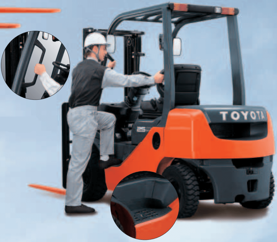 Masuk dan Keluar Forklift Lebih Mudah